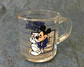 Vintage Mickey Mouse Break Time Coffee Mug, Vintage Disney Mug, Disneyworld Mug