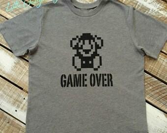 Game Over Retro Mario Tee-Video Game Tee