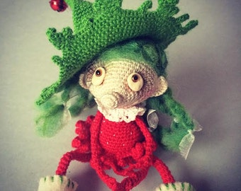 Amigurumi Crochet Strawberry Elf Creature