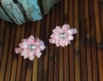 Flower baby clips, baby hair accessories, baby headband , baby flowers, baby dress,Baby pig tail clips,Baby hair clips,Baby pink flowers,