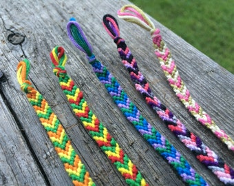 3-Stranded Chevron Friendship Bracelets or Anklets