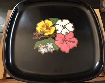 Couroc square serving plate