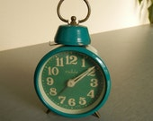 Vintage Mechanical Alarm Clock - Ruhla / German Alarm Clock - Ruhla /  RUHLA Made In Germany / Collectible Clock / Vintage green Alarm Clock