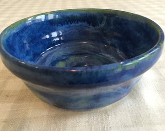 Ceramic Serving Bowl / Blue-Green Pottery Bowl / Handmade Serving Bowl/ Handmade Pottery/ Colourful Bowl/ Ornamental Bowl/ Tableware