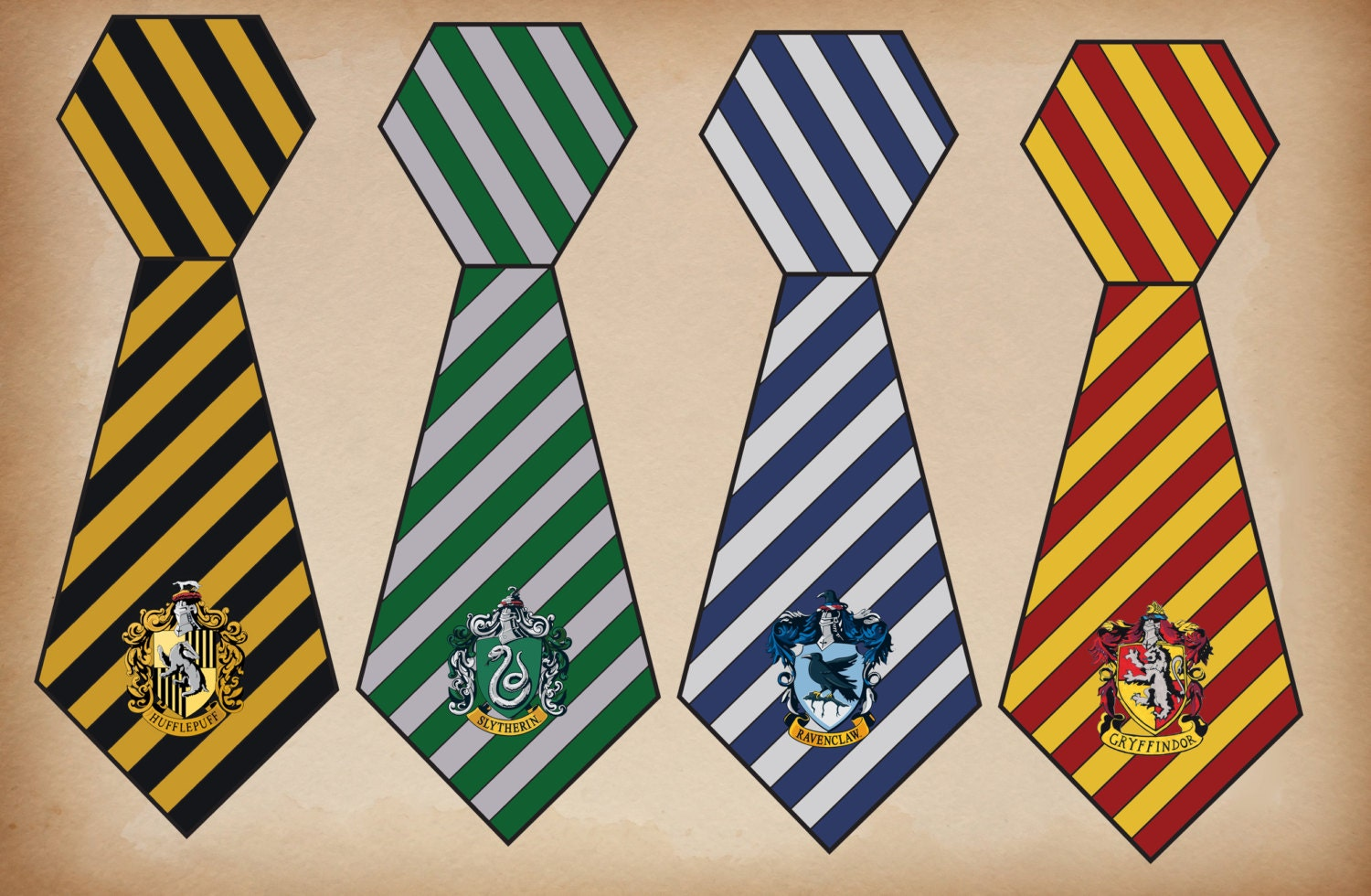 Harry potter tie printable for Harry potter tie template
