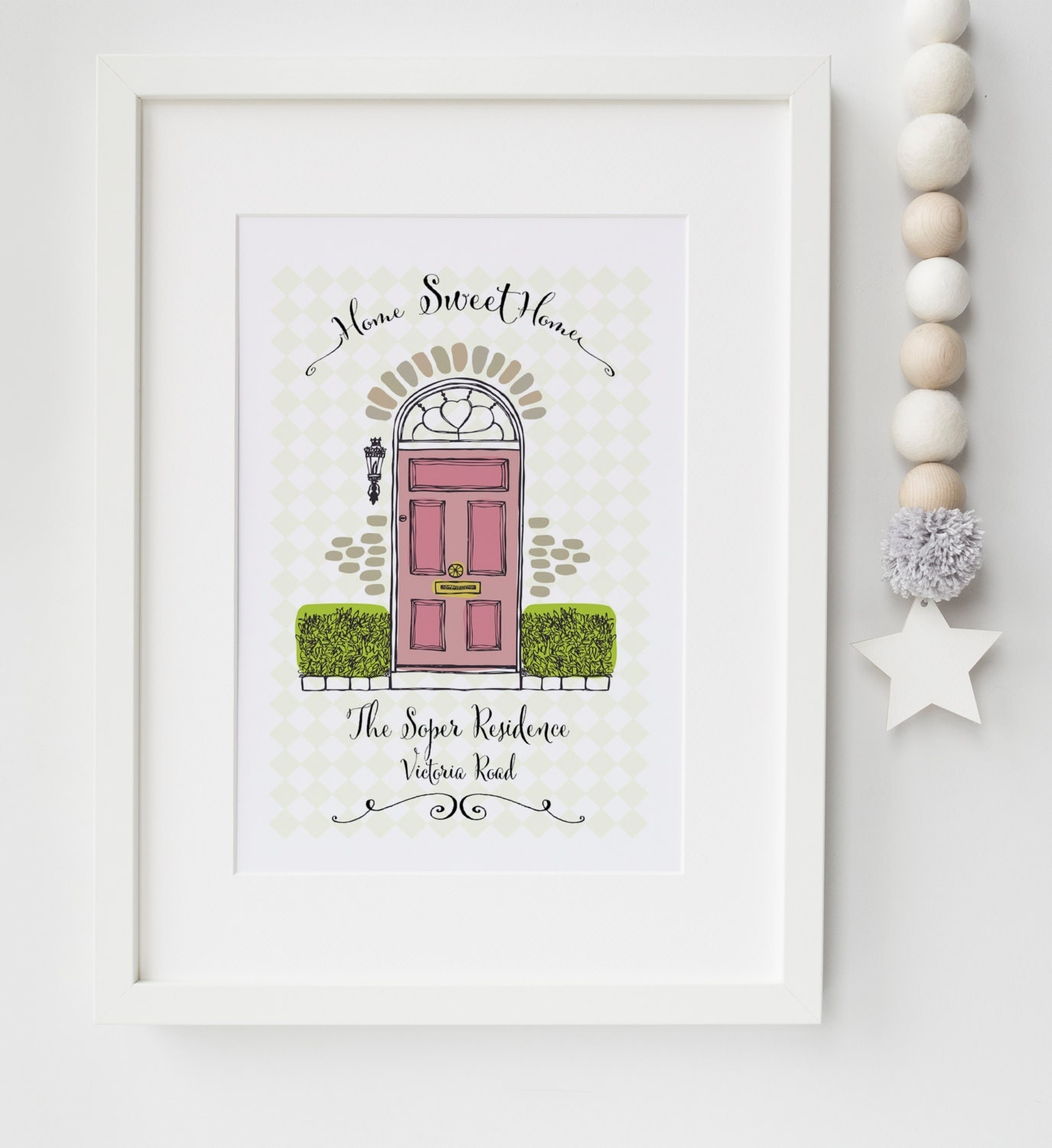 Personalised New Home House Warming Picture Print Memento Wall Art Moving In Gift Frame