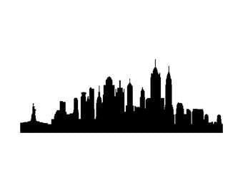 New York City Skyline Vinyl Decal Wall Decal Large Version 0045