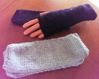 Knitted Fingerless Evening Gloves