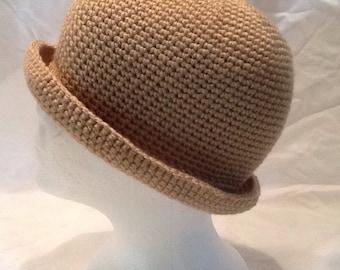 Handmade Crochet Bowler Hat