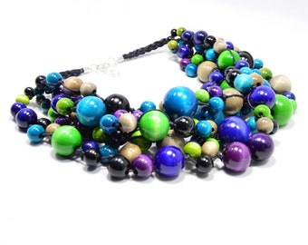 The Fairy necklace wooden beads