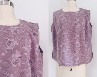 Vintage Rose Purple Top