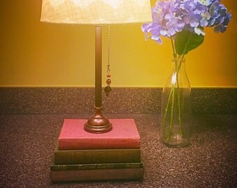 Antique book lamp