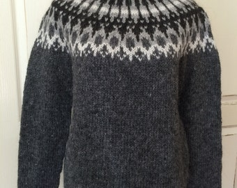 Icelandic Wool Sweater - Hand Knitted With Icelandic Wool