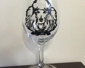 Poodle Wine Glass or Pilsner Glass