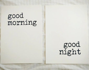 Good Morning Good Night - A3 Print Set