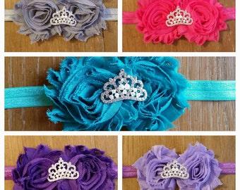 Girl Headbands// Shabby Chic Flower// Tiara
