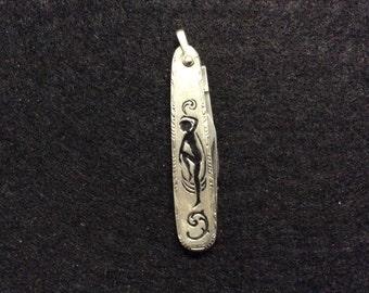 Watch Fob Knife Art Deco Pocket Knife