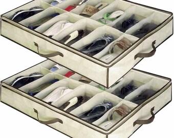 """Under bed shoe storage - 26""""X22""""X5.9"""" - 331606414932-EB"""