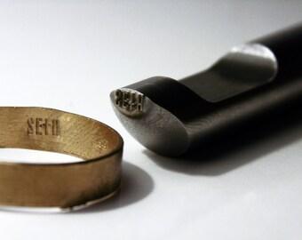 Custom Design Logo Inside Ring Jewelry Stamp - Steel Metal Stamp