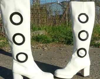 ON SALE PRICE 60's White GoGo Boots