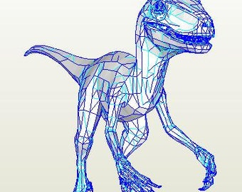 Veloceraptor FULL SIZE Paper Model PDF