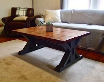 Coffee Table - Trestle/Farm Style