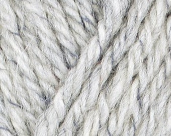 Reflective yarn (grey)  be visible at night or in the dark! Aran weight wool