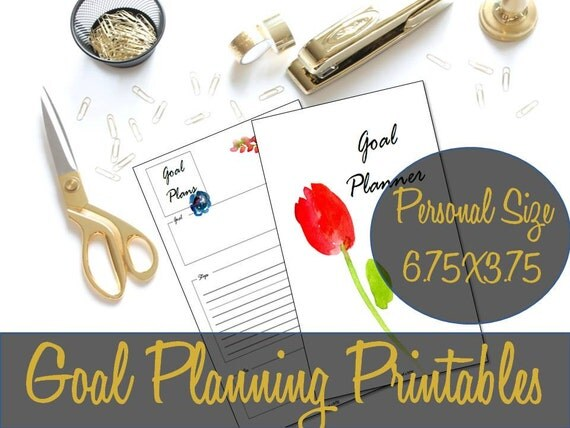 goal planning personal size printables goal
