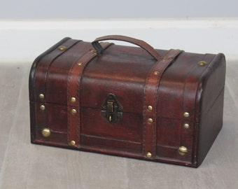 Brown Wood Treasure Chest