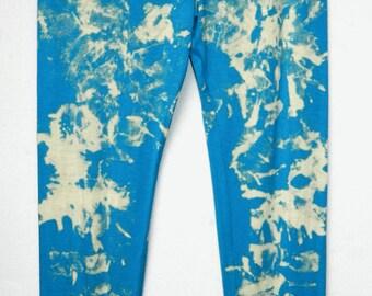 Tie Dye Leggings acid wash Yoga Pants yoga Leggings hand Print Leggings nebula customized personalised leggings Made in UK