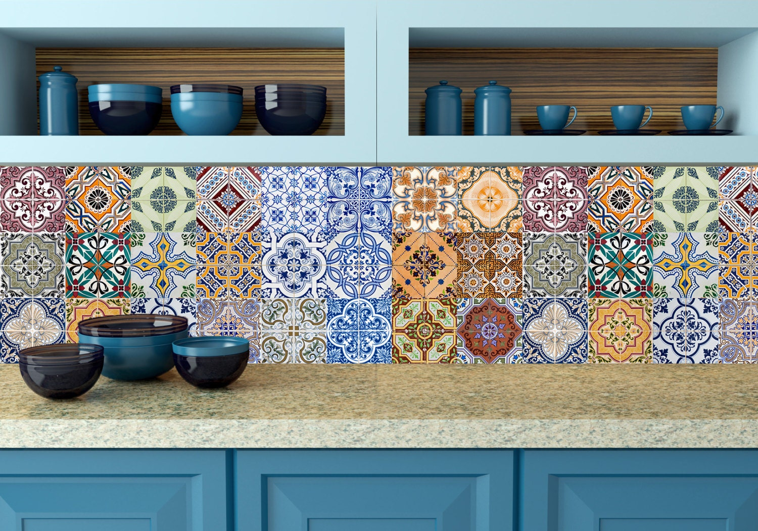 Kitchen Tiles Stickers spanish set of 24 tiles decals tiles stickers tiles for walls
