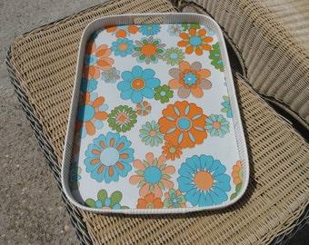 Large serving tray floral vintage so 70