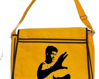 ENTER THE DRAGON - Martial Arts Fan- Iconic Men's retro messenger bag- SHB1029