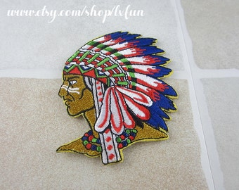 Embroidered Native Americans Patch Iron/Sew On