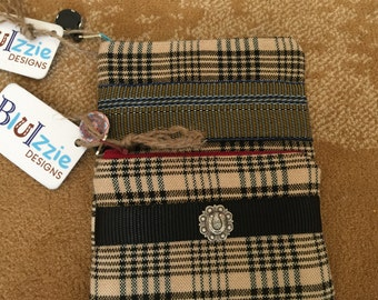 Equestrian Inspired Baker Plaid Credit Card Holder/Change Purse