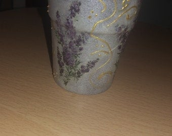 Beautiful Decoupaged Candle Holder
