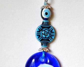 Handmade Turkish Keychain Blue Stone