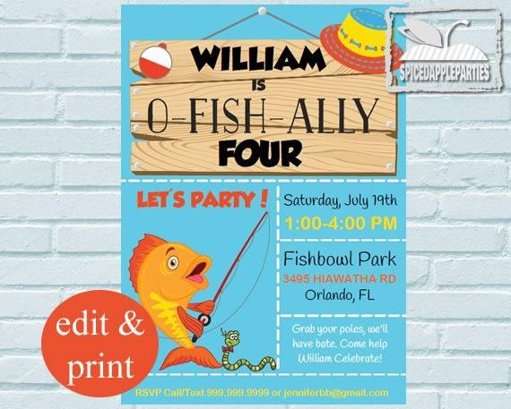 Fishing birthday invitationfishing party fishing invitation gone il570xn filmwisefo Images