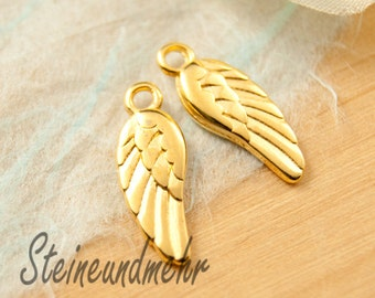 5 x wing 18mm gold plated art. 1593