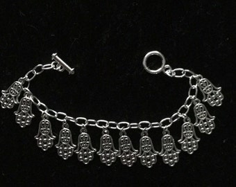 Charm bracelet Hamsa hand charms