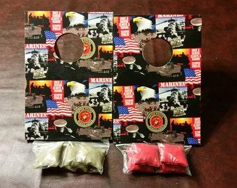 Tabletop Cornhole Boards-Marines