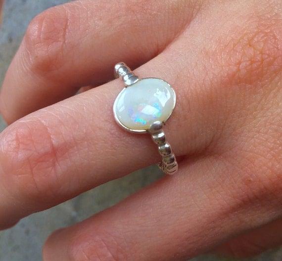 Natural Australian Opal Ring Vintage