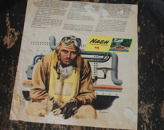 Vintage 1944 Nash-Kelvinator Corp War Time Ad from Look Magazine