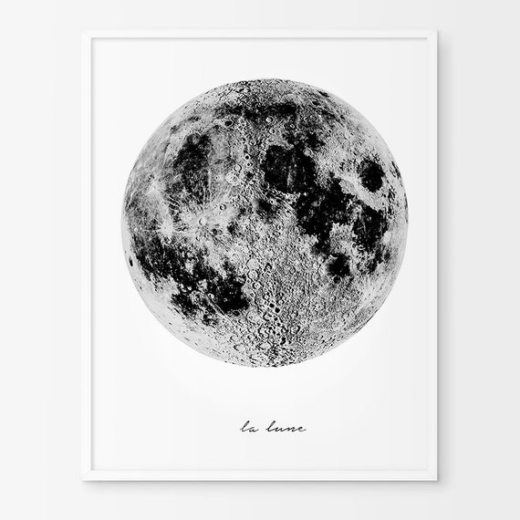 la lune lune poster affiche scandinave impression vintage. Black Bedroom Furniture Sets. Home Design Ideas
