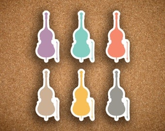 Inkwell Press Cello Instrument, Concert, Music, Recital Planner Stickers IWP-DCM2