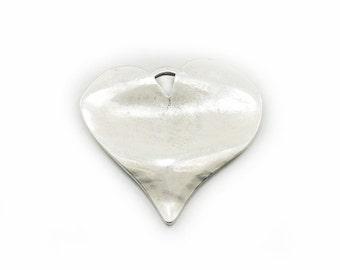 Metal Heart Pendant, Heart Pendant, Metal Heart, Antique Silver Heart Pendant, Jewelry Making, Craft Supplies, Large Pendant, Metal Pendant