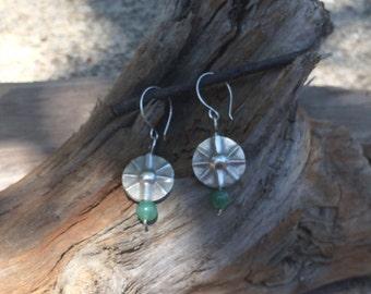 Dangle Earrings, Earrings, Jade Earrings, Sterling Silver Earrings