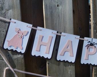 Charlotte's Web Inspired Birthday or Name Banner, Charlotte's Web Party Decor