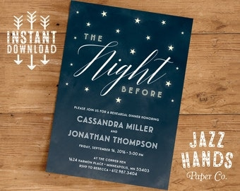 Rehearsal Dinner Invitation Template | DIY | Wedding Rehearsal Invitation | Rehearsal Dinner Invite | Rehearsal Dinner Party