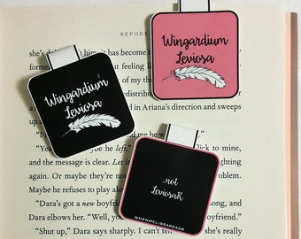 Wingardium Leviosa magnetic bookmark - Harry Potter bookmark - fandom bookmark - Hermione Granger bookmark